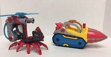 Marvel Super Hero Adventures Vehicle Lot - Helicopter Drill (spiderman ironman)