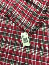 NWT Ralph Lauren Polo Red Plaid Check Scarf Italy Western Big Pony Neck Scarf