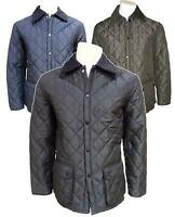 MEN'S HEXHAM DIAMOND PADDED/QUILTED HUNTER  STYLE JACKET/COAT