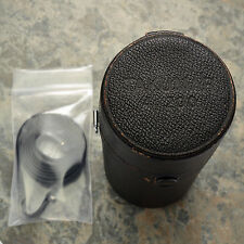Genuine Asahi Pentax Takumar 4/200 200mm f4 leather lens case w/strap (#2918)