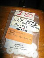 NEW LOT of 10 Graco Spray Gun Tip Nylon Tip Washer Gasket I50 (white)  # 166-969