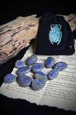 Egyptian Oracle Rune Pierres Wicca Pagan Witchcraft divination Scarab Sac