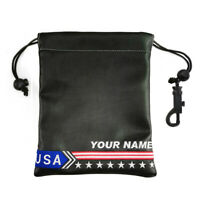 New Golf Personalized Ball Pouch Bag Leather Carry Case Custom Name Ball Bag