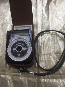 Leningrad 4 Light / Exposure Meter No.47558 & Original Leather Case with Lanyard
