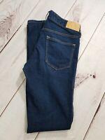"""H&M Super Skinny Low Waist Jeans Size 27/32 Inseam 31"""" Dark Wash Denim"""