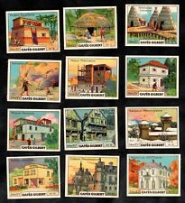 Cafes Gilbert French Card Set 1935 Architecture Dwellings Caveman Hut House Fort