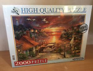 Clementoni 2000 Piece Jigsaw Puzzle Quality New Factory Sealed Coastal Sunset