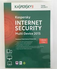Kaspersky Internet Security 2015 1-User. Retail. CD & License key. Brand New!