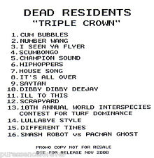 DEAD RESIDENTS - Triple Crown (UK 16 Track DJ CD Album)