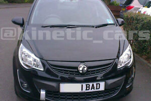 Vauxhall corsa D Headlamp eyebrows eyelids spoilers VXR Artic SRI LIMITED