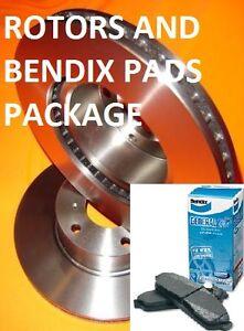 Ford FOCUS LW SPORTS 2010-Current FRONT Disc Brake Rotors & BENDIX PADS