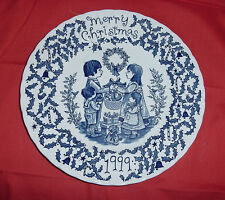 ROYAL CROWNFORD NORMA SHERMAN STAFFORDSHIRE MERRY CHRISTMAS HOLIDAY PLATE vtm