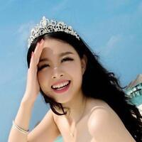 Bridal Bridesmaid Wedding Prom Crystal Rhinestone Diaman Crown Tiara Headband BF