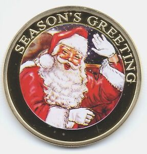 Merry Christmas Gold Coin Gift for the Man who has everything Santa Father Happy