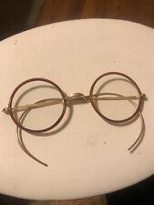 Vintage Round Gold Eyeglasses Frames  Windsor Lennon  Antique Frames