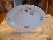 Winterling Moss Rose Vtg Bavaria Fine Porcelain China Oblong Serving Platter