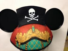 "DisneyParks Mickey Mouse ""PETER PAN, CAPTAIN HOOK "" Ears Hat New w Tags"