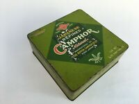 Vintage Japanese Refined Camphor Ad Litho Tin Box Japan Rear Collectible
