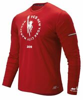 New Balance Men's 2019 NYC Marathon NB Ice 2.0 Long Sleeve Red