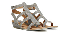 NEW BORN B.O.C HEIDI SILVER STRAPPY SANDALS WOMENS 9 Z31922 FREE SHP
