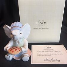 Lenox Fine China Figurine Gift of Thanksgiving Pie Feast Elephant Gift NEW