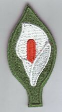 Easter LILY Patch, aufbügler, ricamate i.r.a simbolo Irlanda del Nord, Giglio