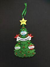 Christmas tree decoration - personalised Christmas tree family