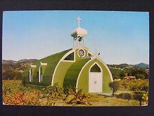 Asti California El Carmelo Chapel Italian Swiss Colony Vineyard Postcard 1950s