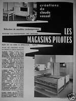 PUBLICITÉ 1956 LES MAGASINS PILOTES CRÉATION DE CLAUDE VASSAL - ADVERTISING