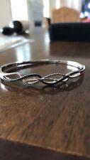 Black diamond bangle bracelet 1/3ct round cut Sterling silver From Kay Jewelers