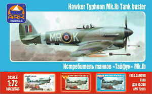 HAWKER TYPHOON Mk.Ib TANK BUSTER /I B/ (RAF MARKINGS) #72015   1/72 ARK MODELS