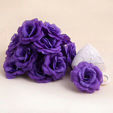 20pc Artificial Silk Roses Flower Heads Small Bud Wedding Decoration Party Craft