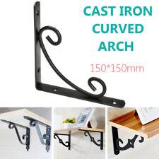 Durable Cast Black Iron Shelf Bracket With Screw Industrial Antique Heavy