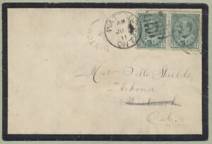 1911 Mourning Cover, Dinton ALTA to Lambton Cty Ontario, Redirected
