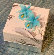 Tarina Tarantino Flower Earrings Resin Blue & Yellow Large Posts NWOT Never worn