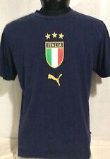 Puma Italia Italy Blue Soccer T-Shirt Large