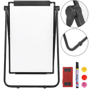 """Double Sided 36"""" x 24"""" Dry Erase Board Stand Magnetic Whiteboard Office Supplies"""