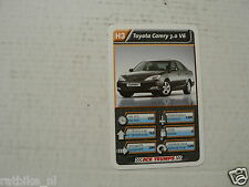 43-LUXURY CARS/AUTO H3 TOYOTA CAMRY 3.0 V6  KWARTET KAART, QUARTETT CARD,