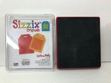 Sizzix Large Red Original Die Cut LUGGAGE TAG No.2 Travel Suitcase
