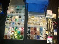 HUGE Lot of Beads Jewelry Making Supplies Findings Stones NEW