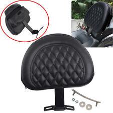 Adjustable Driver Rider Seat Cushion Backrest For Harley Fatboy Heritage Softail