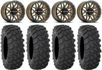 "Raceline Krank 14"" Wheels Br +38mm 30"" XTR370 Tires Polaris RZR Turbo S / RS1"