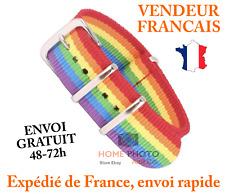 Bracelet Montre Daniel Wellington Nylon 20mm gay rainbow multicolor arc en ciel