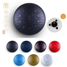 More details for 12 inch steel tongue drum handpan hand drums 11 notes tankdrum with drum mallets
