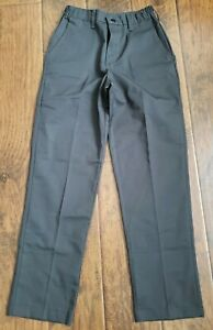 New Red Kap Women's Elastic Waist Work Pants, Charcoal Gray Sz. 4
