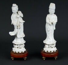 La Chine 20.jh. Personnages chinois blanc de Chine Figures of immortals chinois cinese