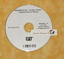 Reg00885 Cat Caterpillar 112 Motor Road Grader Service Manual Cd 89j 80j