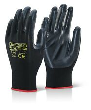 Click 2000 Nitestar Black Nitrile Precision Work Gloves Size Large 9 X 20 Pairs