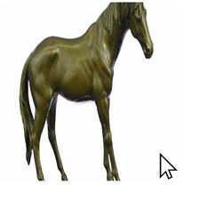 Large Decor Hot Cast Arabian Racing Horse Bronze Sculpture Statue FigurineBM