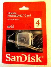Sealed Sandisk 4 GB microSDHC Card
